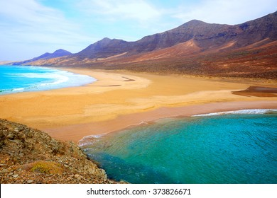 Cofete Fuerteventura Barlovento beach at Canary Islands of Spain