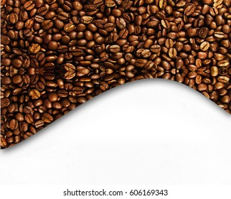 Coffe beans design background
