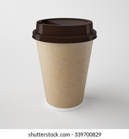 Coffe cup isolated. 3d rendering