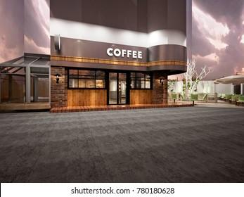 Coffe Shop 3D Render