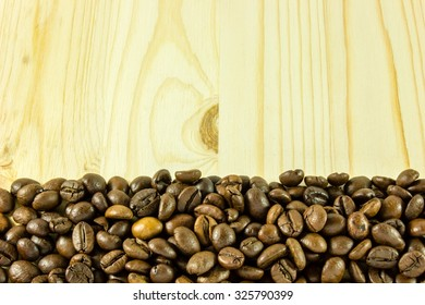 Coffe and wood background