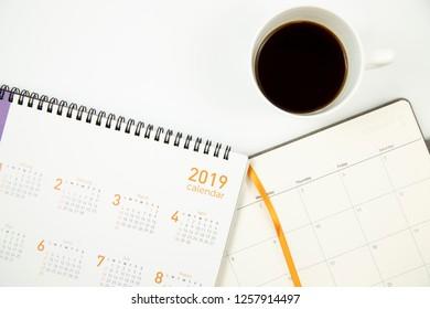 Coffee and 2019 calendar