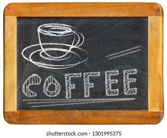 coffee advertising design template on blackboard, coffee shop menu, free copy space