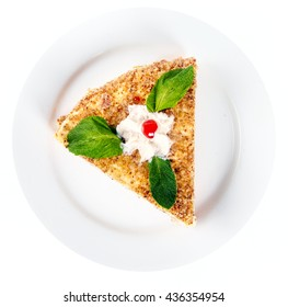 coffee almond cake with mint
