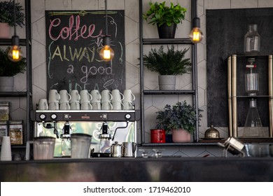 """Coffee always a good idea"" - slogan in the beach bar in the turkish resort"