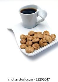coffee with amaretis