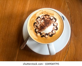 Coffee art and cappuccino