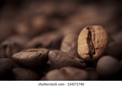Coffee background with roasted beans