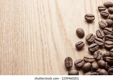 Coffee baens on wooden table