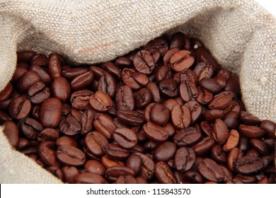 Coffee bag with coffee beans
