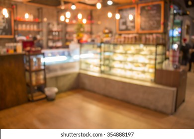 coffee and bakery shop blur background