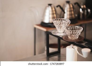Coffee bars in the coffee shop