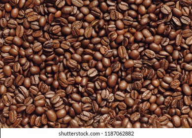 Coffee bean background aromatic food and drink