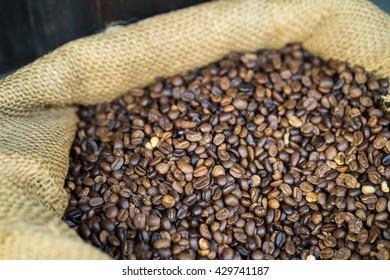 Coffee bean in bag