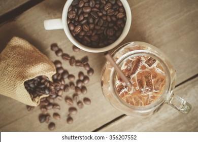 Coffee Bean with iced coffee