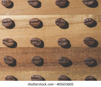 Coffee bean pattern
