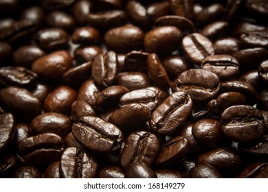 Coffee bean in white background.