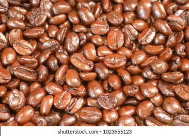 coffee beans for background and texture