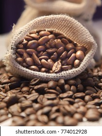 coffee beans bag : fresh roasted coffee beans with soothing aroma and attractive texture.