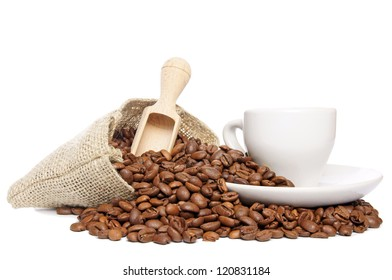Coffee beans and coffee cup / Coffee beans