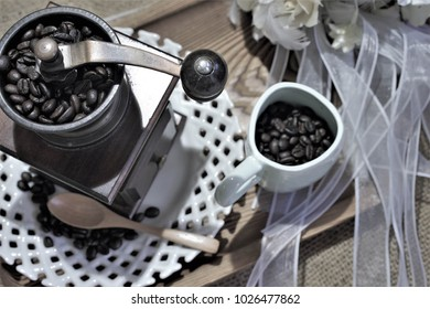 Coffee Beans The essence of coffee. What is the most preferred coffee beans are fresh roasted coffee beans, good aroma.