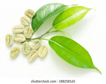 coffee beans, green