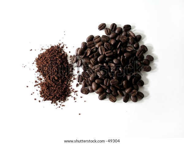 Coffee beans and ground coffee : Transition.