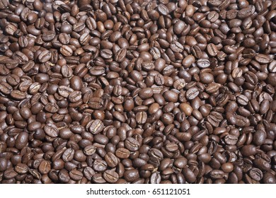 Coffee beans. Image can be used as a background and texture.