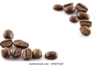 coffee beans isolate on white background
