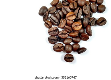 coffee beans isolated