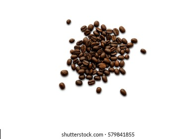 Coffee beans. Isolated on white background with clipping path.