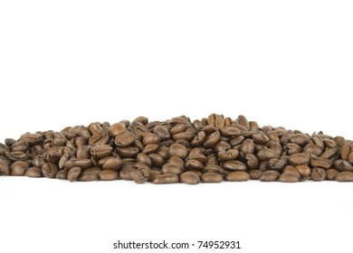 Coffee beans. Isolated on white background.  Background