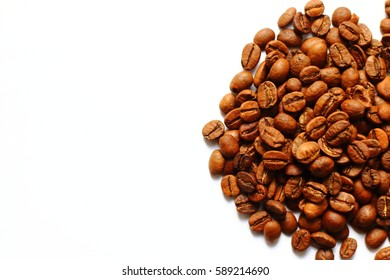 coffee beans isolated texture