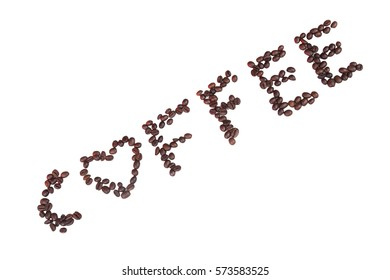 Coffee beans lettering