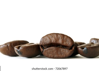 coffee beans, macro shot