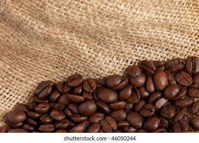 Coffee Beans on a hemp sack