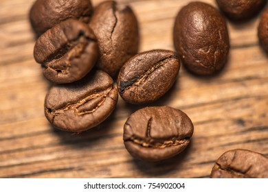 Coffee beans on table