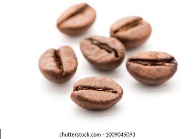 coffee beans on a white background. coffee