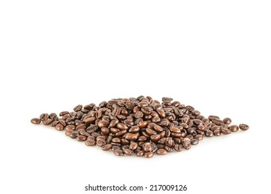 coffee beans on the white background