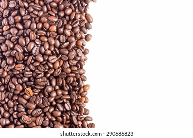 Coffee Beans on white background for presentation and business