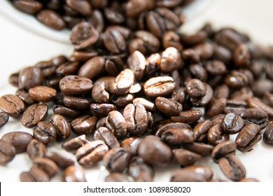 Coffee Beans on white countertop