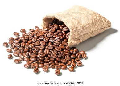 coffee beans on white, (large depth of field, taken with tilt shift lens)