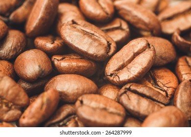 Coffee Beans Pattern Background/ Coffee Beans Close Up