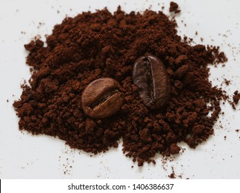 Coffee beans and Coffee powder design.