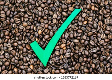 Coffee beans - quality check drinks concept - choice for drinking coffee, beans with full roasted natural flavor, and enjoying great taste.