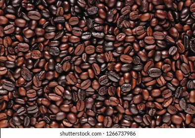 Coffee beans. Roasted coffee beans, can be used as a background. Coffee background close up.