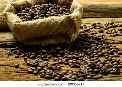 coffee beans shooting in studio