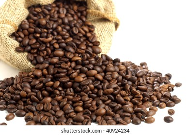 Coffee beans stack