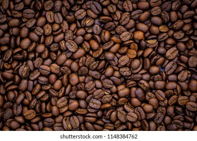 Coffee beans texture.