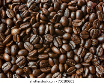 Coffee beans texture fine roasted